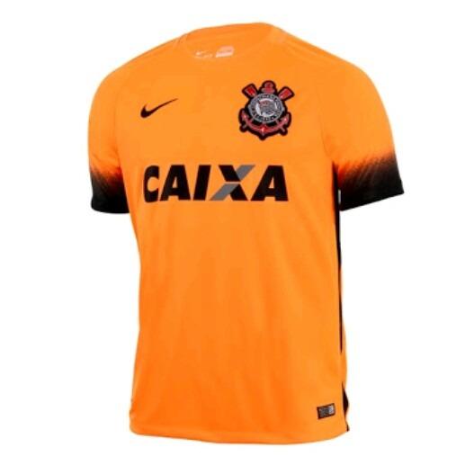 8fce983e29c4f Camisa Corinthians Laranja Nike 100% Original 2016 17 - R  95