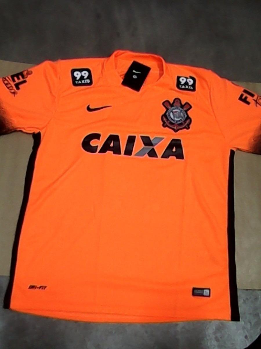 Camisa Corinthians Laranja Oficial Fiel Torcedor 2015 - R  78 9dfe7770b3e2e