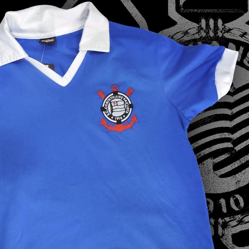 camisa corinthians londres 1965 azul (réplica). Carregando zoom. 12d9075c8ce29