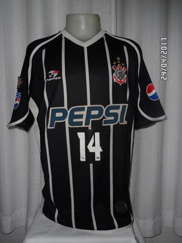 camisa corinthians n#14 topper de jogo 2001/02