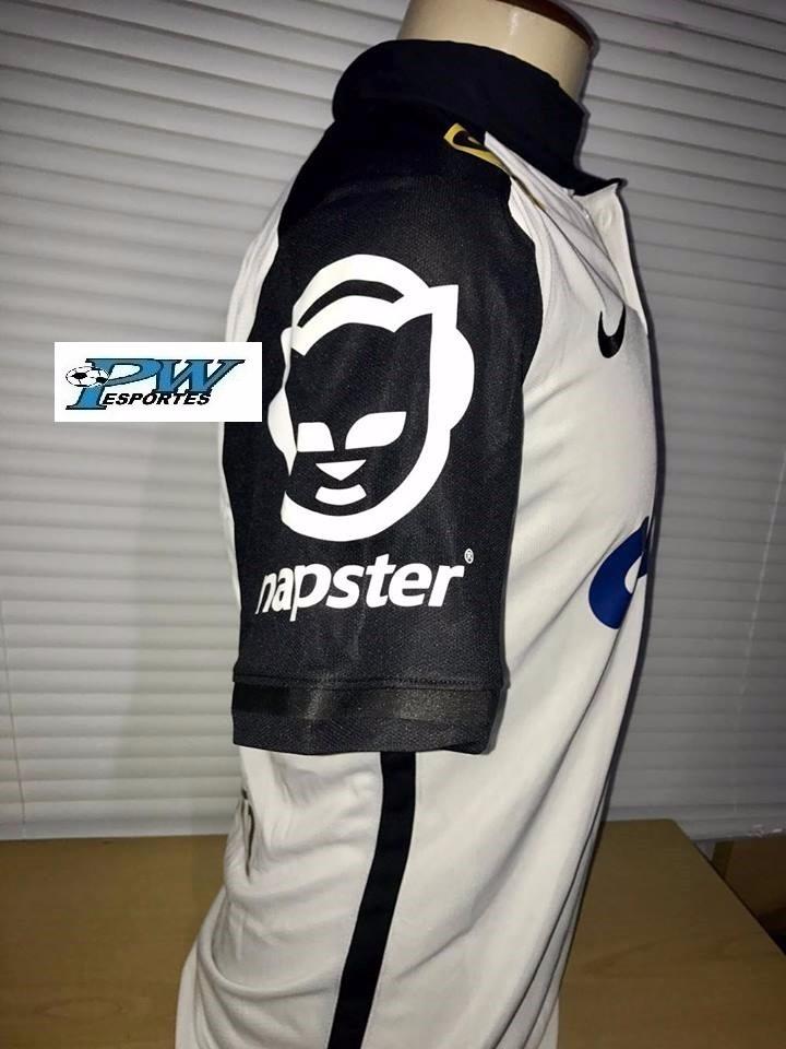 27200efa3363a Camisa Corinthians Napster Brasileirão 2015 #4 Gil - R$ 499,00 em ...