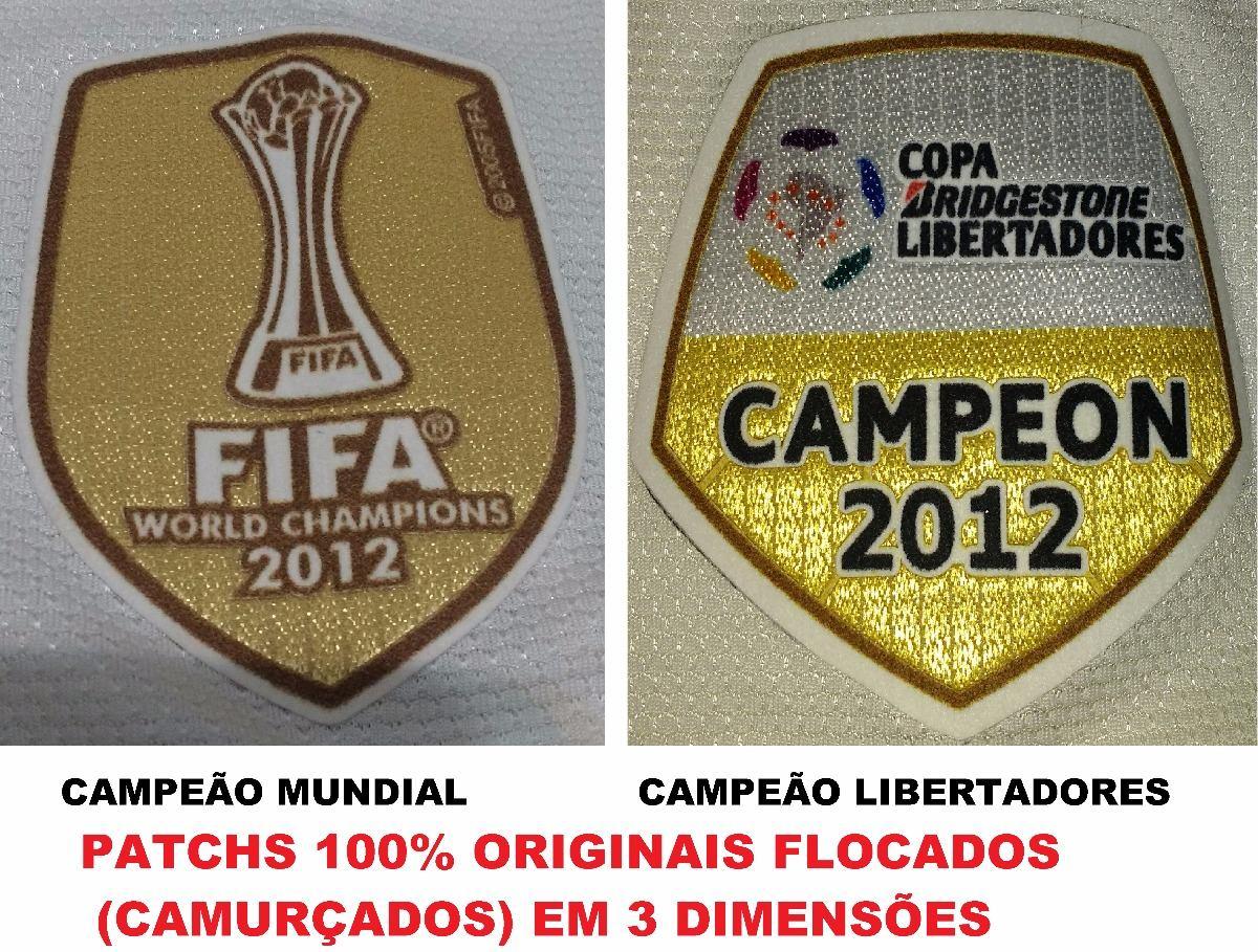 Camisa Corinthians Nike 2013 Patchs Libertadores + Mundial - R  329 ... 95a59072315b7