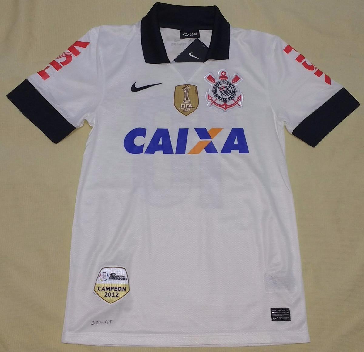 238a74b84c900 Camisa Corinthians Nike 2013 Patchs Mundial E Libertadores - R  329 ...
