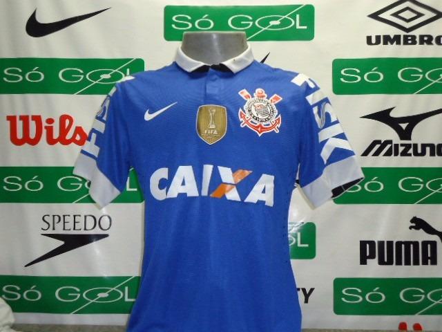 f5fbed43c0 Camisa Corinthians Nike Azul Oficial Jogador Romarinho   31 - R  979 ...