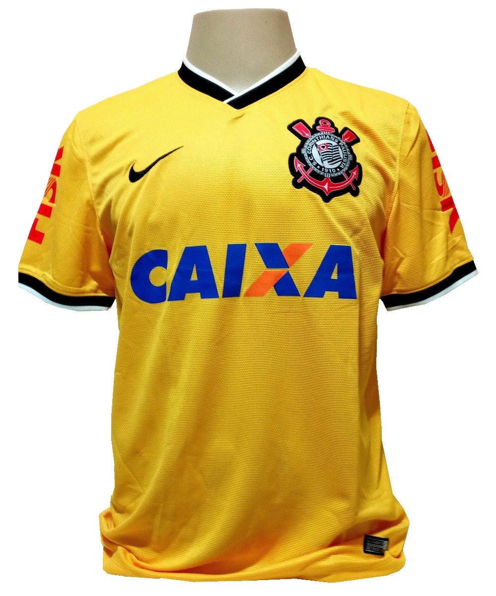 51d93e6624 camisa corinthians nike brasil copa 2014 amarela. Carregando zoom.