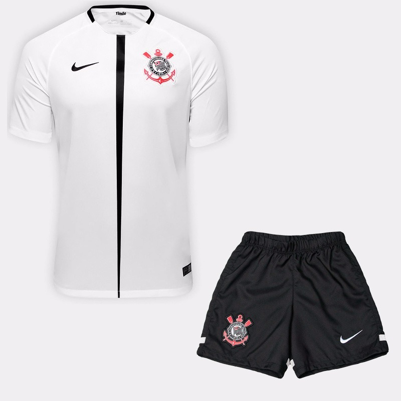camisa corinthians nike home 2017 2018 original + shorts. Carregando zoom. d2fc2147661c5