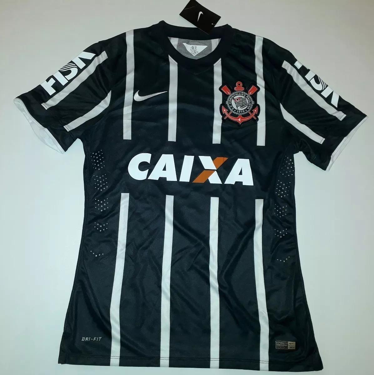 1d45cc7754 Camisa Corinthians Nike Listrada 2014 Modelo Jogador - 56 - R  399 ...
