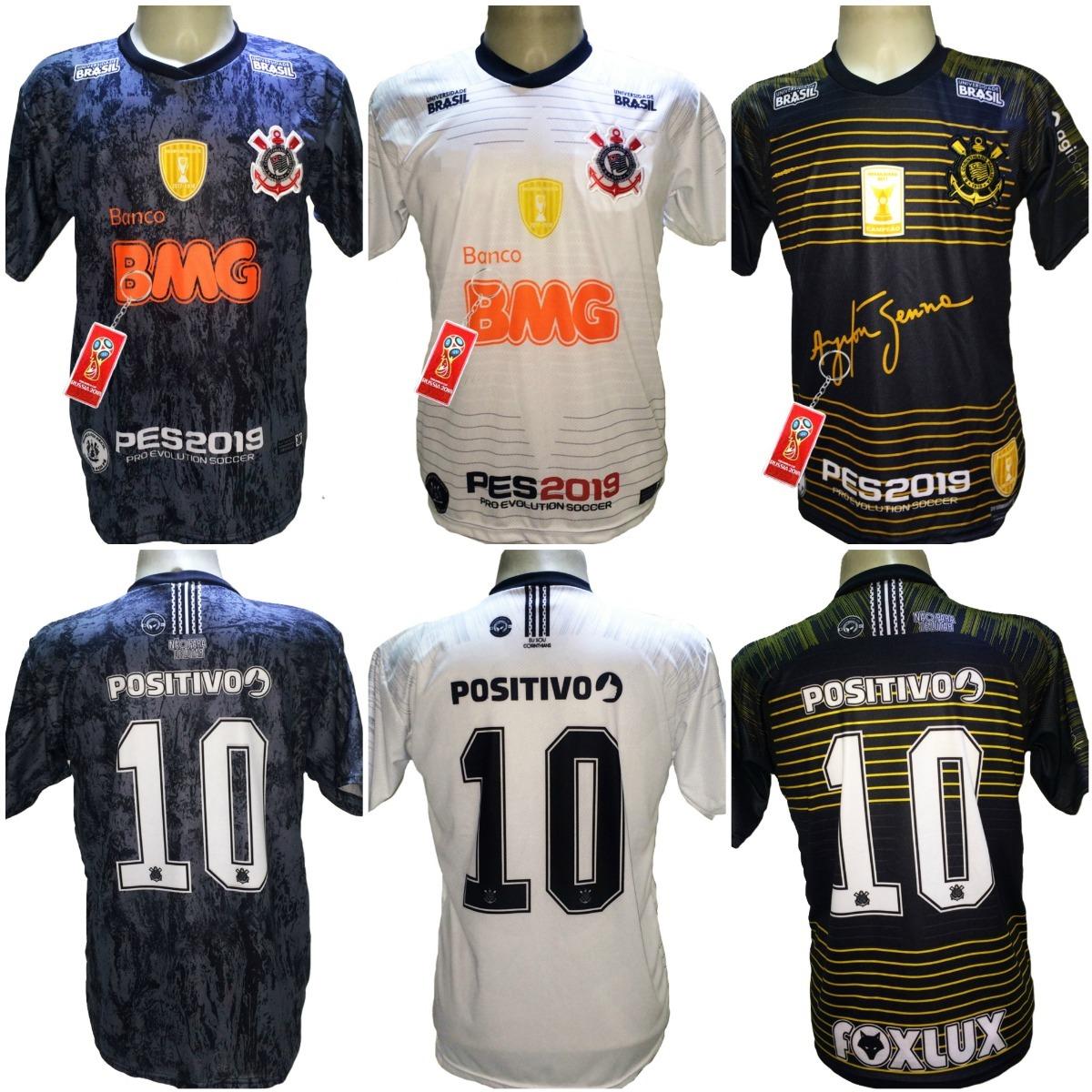 Camisa Corinthians Pague 2 Leve 3 Promoção Hepta Frete Grati - R ... 5b848718d2dba