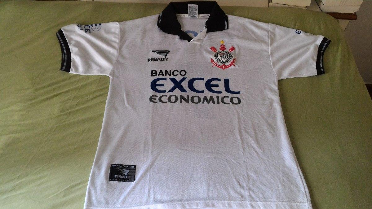 dbe4a35c74363 Camisa - Corinthians - Penalty Excel - 1997 (branca) - Nº 7 - R  150 ...