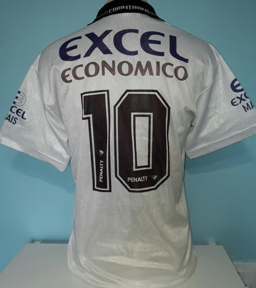 camisa corinthians penalty excel campeão 1997 paulista - 40. Carregando  zoom. d7bcdccabc62c