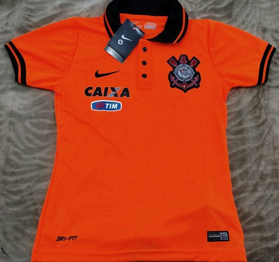 6a0e238d11687 camisa corinthians polo feminina timão terrão laranja. Carregando zoom.