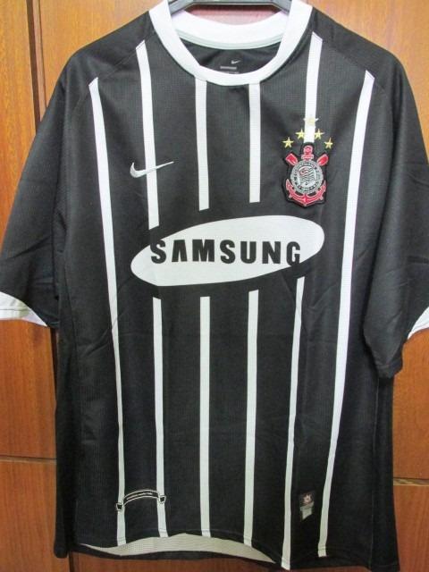 Camisa Corinthians Preta Nova Temporada 2006 Tam Xl - R  215 cfd315aaa2119