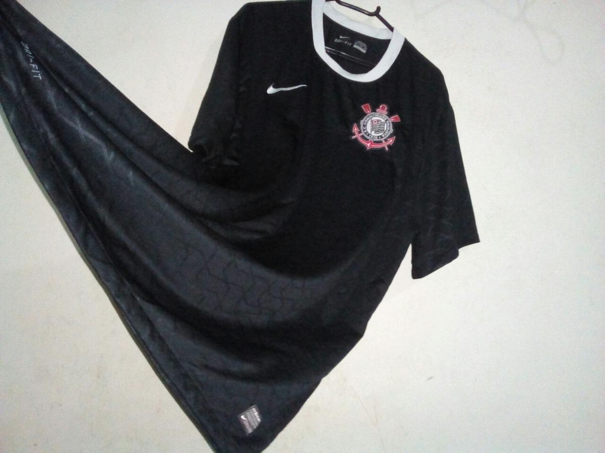 camisa corinthians preta original nike. Carregando zoom. 3d0ec882dd178