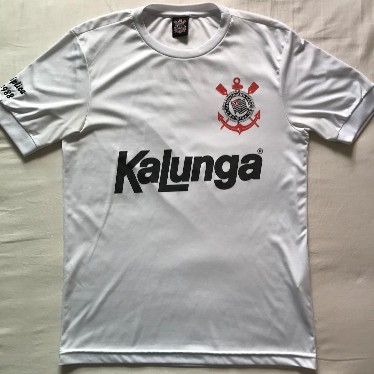 camisa corinthians replica 1988 kalunga retro shoptimao. Carregando zoom. 402ea1335e849