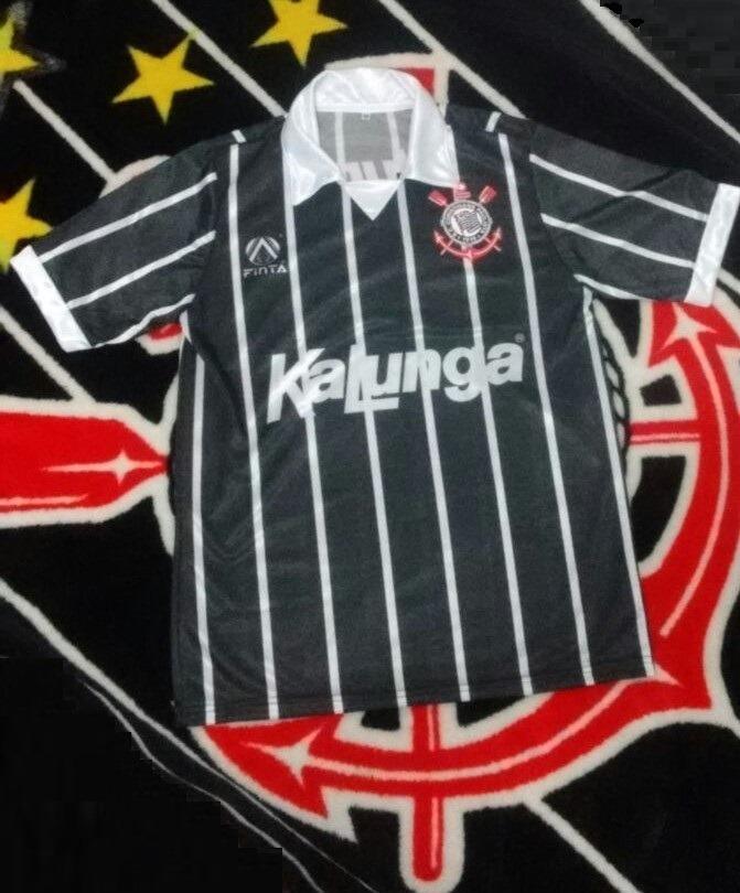 Camisa Corinthians Retrô Anos 90 - Final Do Brasileiro De 90 - R  52 ... 802d49959fe2d