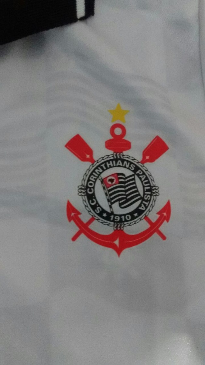 camisa corinthians retrô anos 90 preta   branca (novo) timão. Carregando  zoom. d09158308b7e6