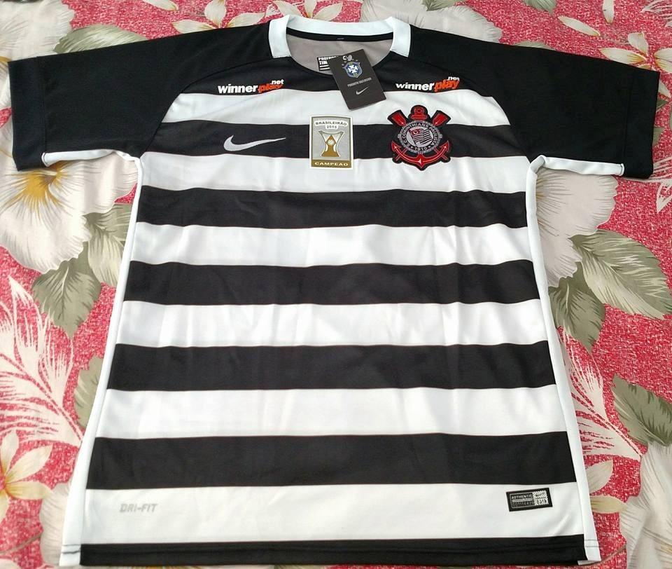camisa corinthians timão nova 2015 preta e branca listrada. Carregando zoom. 2678fc58f0f96