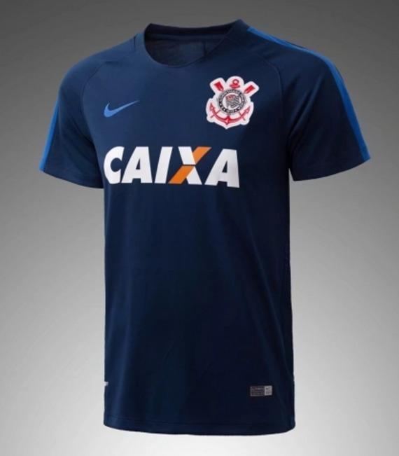 Camisa Corinthians Treino 17 18 Azul Frete Grátis - R  149 4c32720c11662