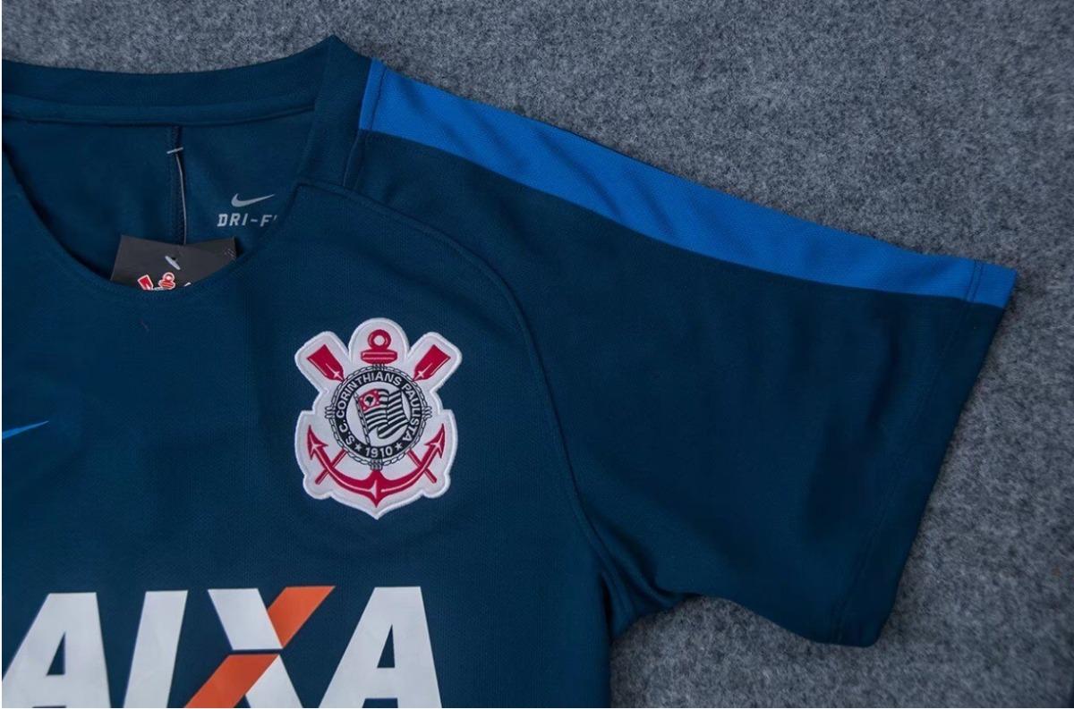 e496ed289d31d camisa corinthians treino 17 18 azul frete grátis. Carregando zoom.