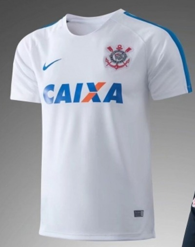 Camisa Corinthians Treino 17 18 Branca Frete Grátis - R  149 342eda1fb36ee