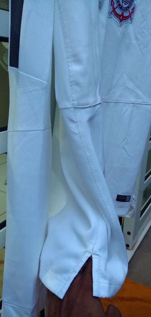 camisa corinthians treino manga longa exclusivo jogador top. Carregando  zoom. bfb236f37d18c