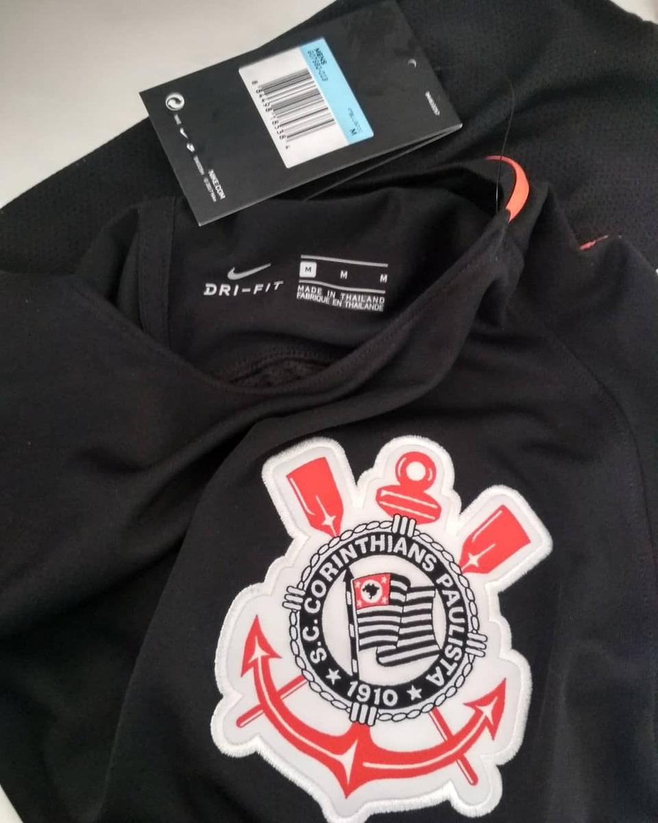 a301fb9a57b21 camisa corinthians treino original nike preta laranja 18 19. Carregando zoom .