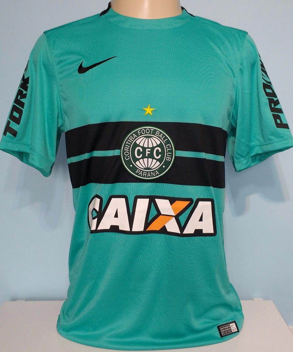 1e1adebbb9b Camisa Coritiba Nike Azul 2015 100% Nike + Brinde Meião - 13 - R ...