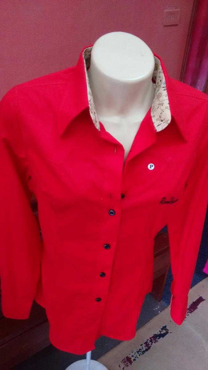 Camisa Country Feminina Vermelha Com Floral Ride Horse - R  69 3194e02392f