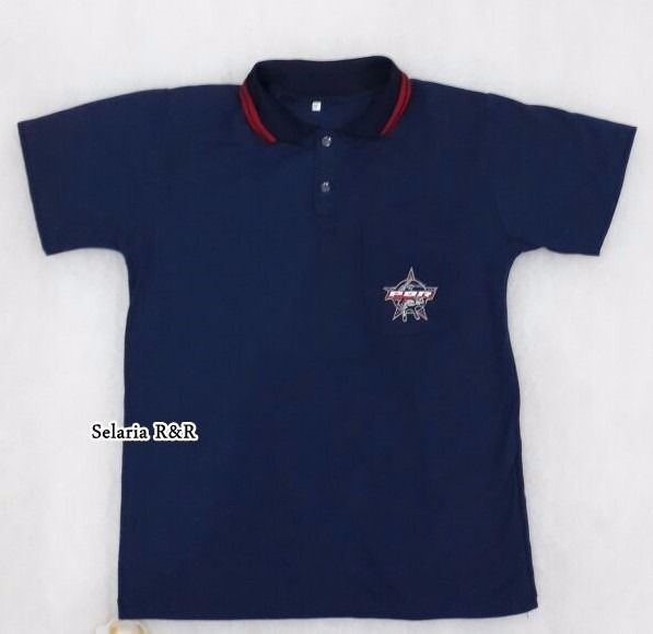 Camisa Country Modelo Polo Masculina Pbr Azul + Frete Grátis - R ... 1d6769a069e