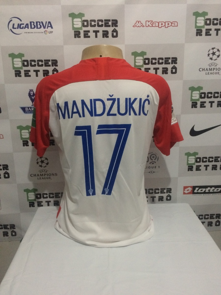 camisa croacia final copa do mundo 2018 mandzukic 17. Carregando zoom. a7c8ea2d1ef61