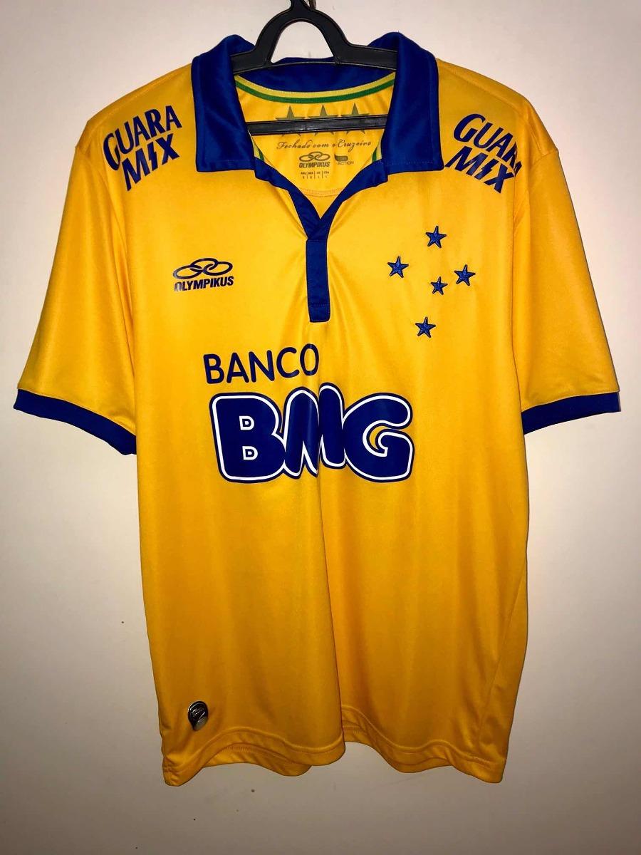 camisa cruzeiro 2014 third amarela olympikus - novíssima. Carregando zoom. b6893fb039ed2