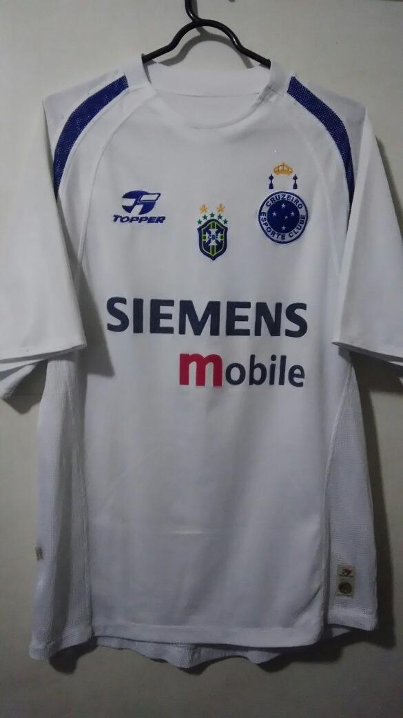 camisa cruzeiro branca - topper 2004. Carregando zoom. d99025a6ddf3a