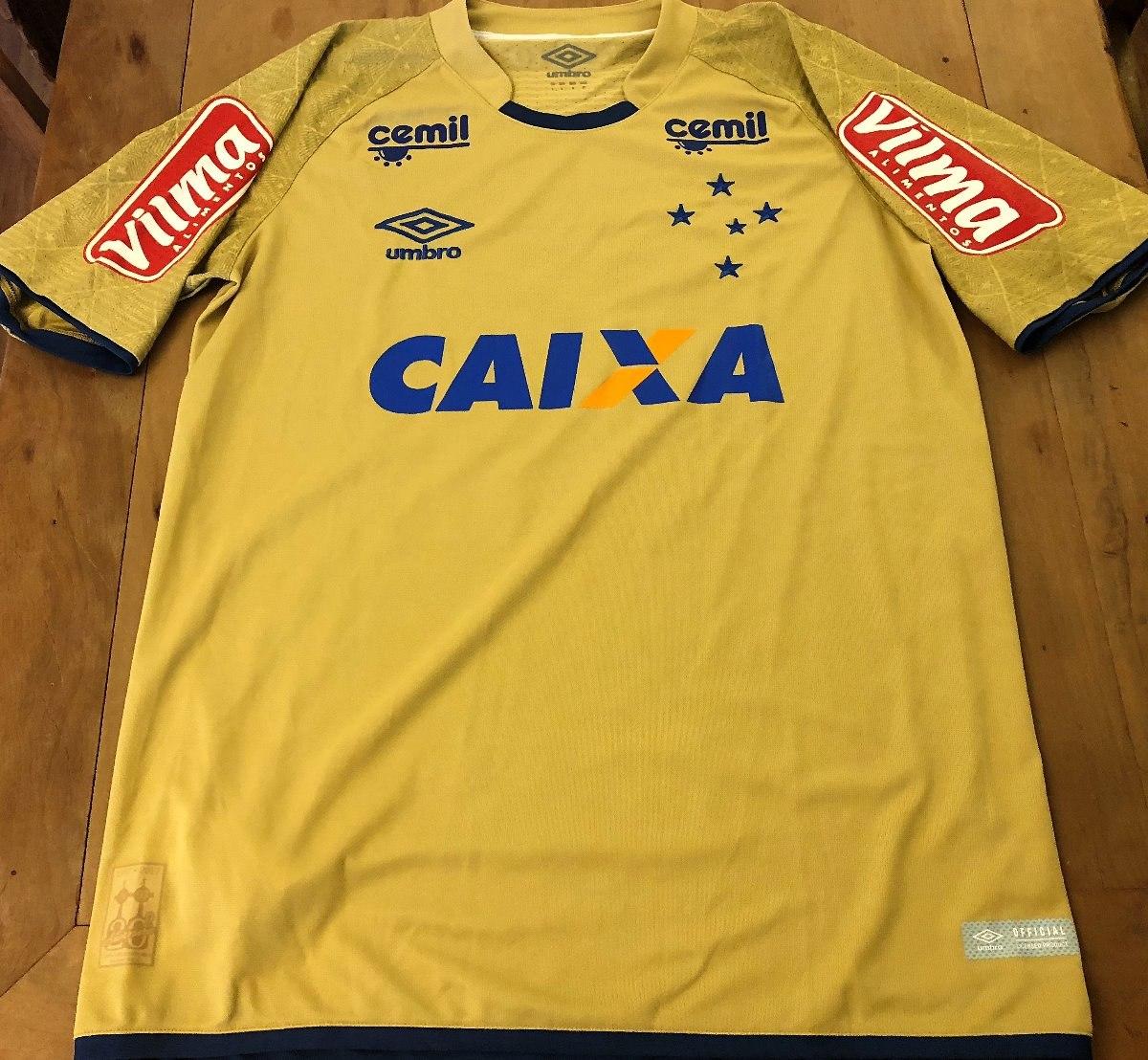 camisa cruzeiro brasileirão 2017 rafael  12 goleiro de jogo. Carregando zoom . 397d765221b2d