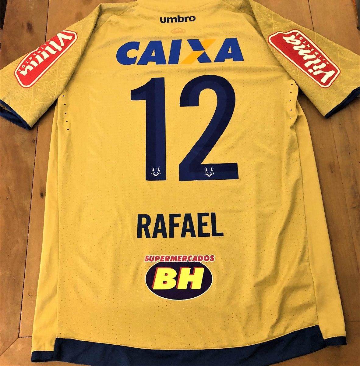 Camisa Cruzeiro Brasileirão 2017 Rafael  12 Goleiro De Jogo - R  399 ... 41bdc5ca656f1