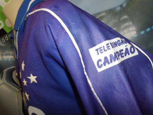 Camisa Do Cruzeiro Usada Nas Finais Do Brasileiro 1998. - R  500 c48e2b7bc4af6