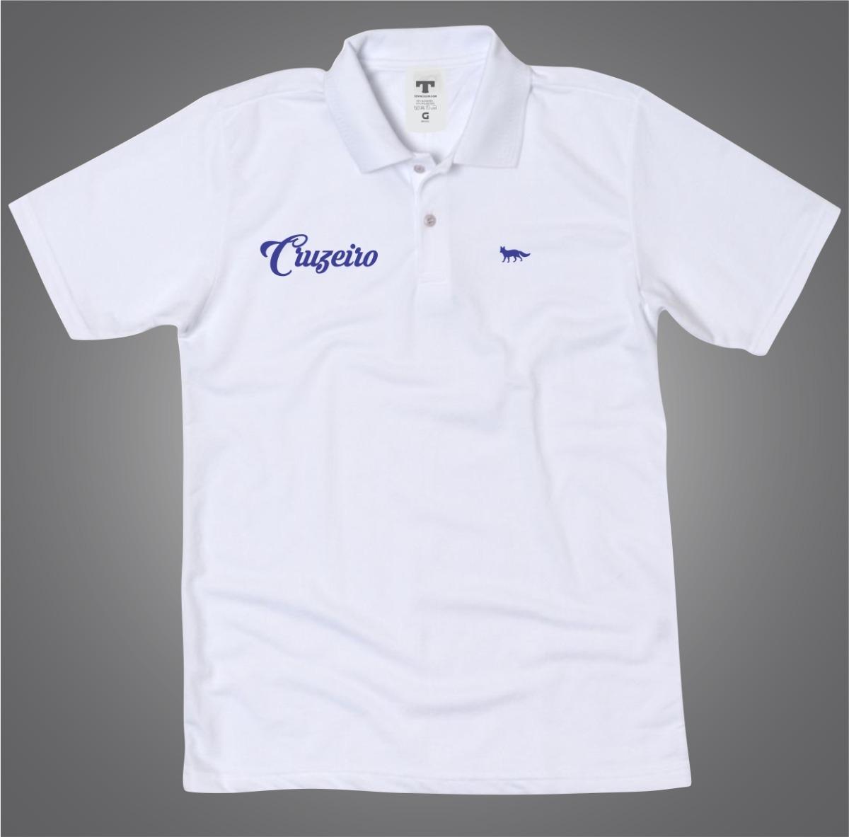 a49082d28c Camisa Polo Cruzeiro Azul Branco Cinza Blusa Cruzeiro Polo - R  54 ...