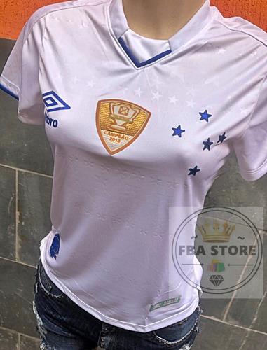 be1304c81693c Camisa Do Cruzeiro Feminina Umbro 2019 Branca   S Patrocinio - R  79 ...