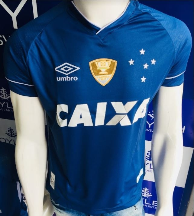 Camisa Cruzeiro I 17 18 C nº Torcedor Umbro Masculina - Azul - R  92 ... 6ba0ff11b8b23