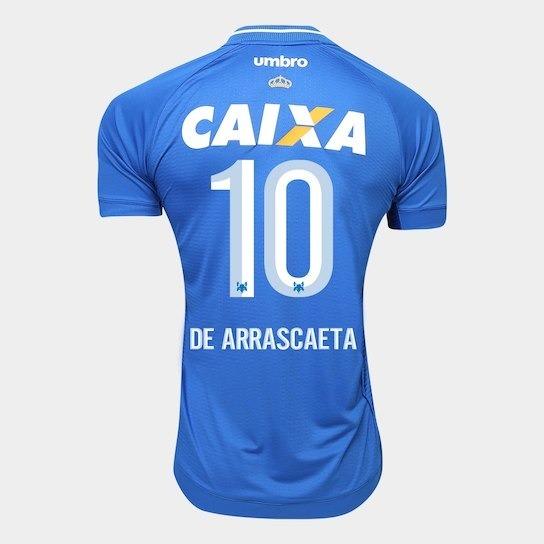 65afa34c2c97e Camisa Cruzeiro I 2017- 10 Arrascaeta - Jogador-frete Grátis - R ...