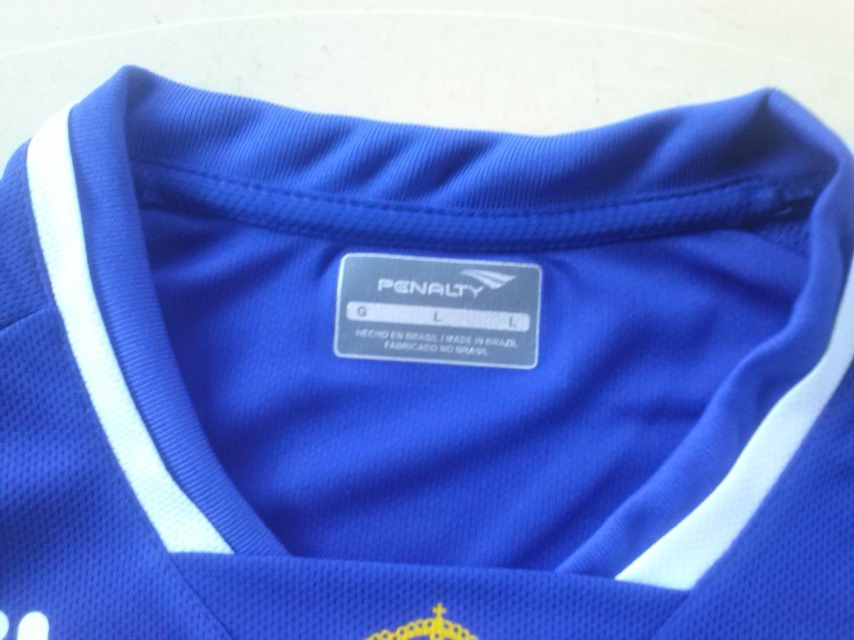 camisa cruzeiro oficial penalty 2015 uniforme 1 m com patch. Carregando zoom . e2ec3443e800f