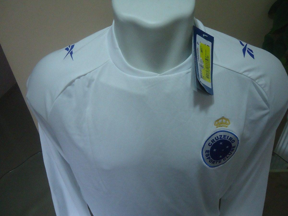 camisa cruzeiro reebok manga longa - jogo 2012. Carregando zoom. f54ea010fca15