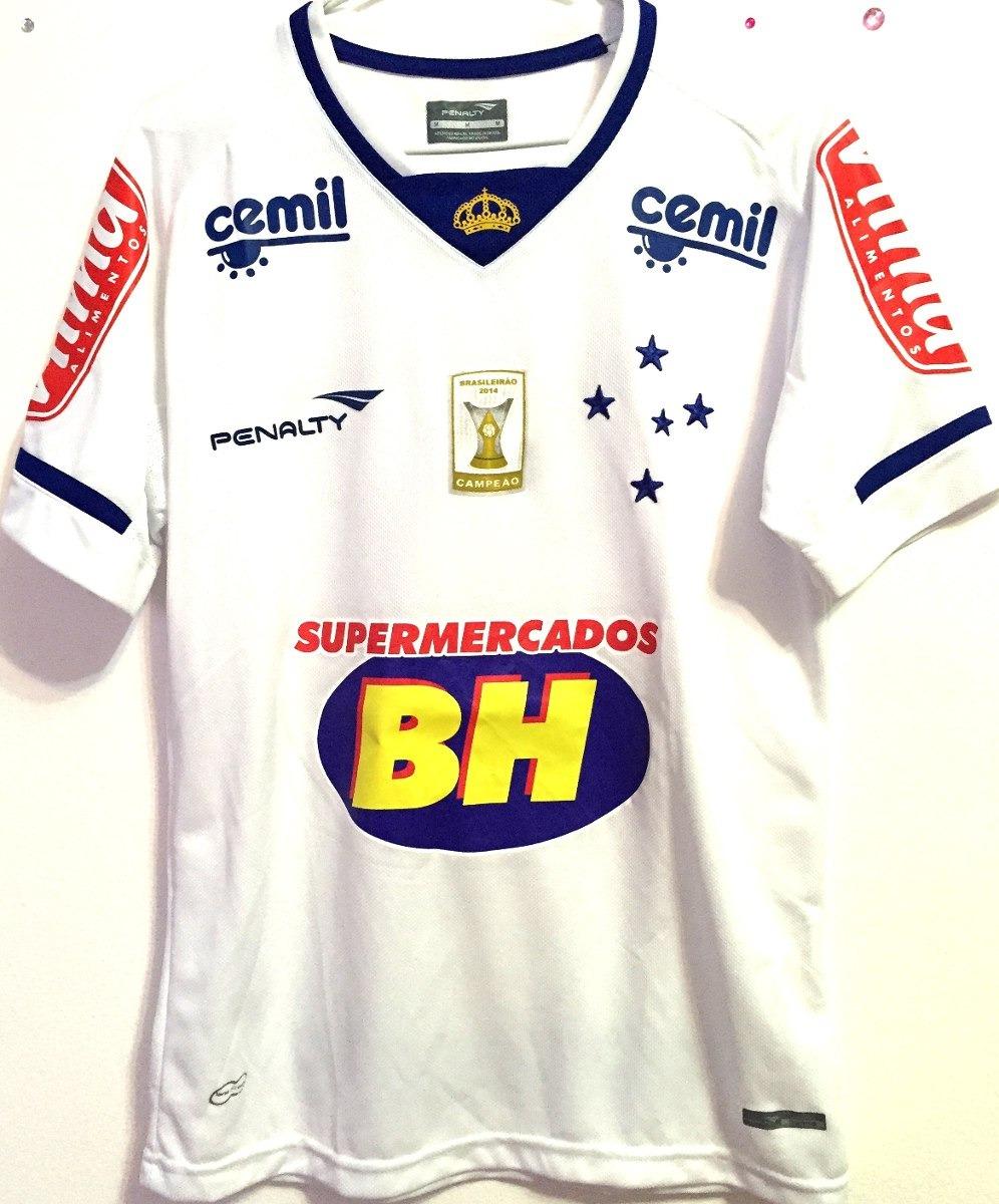 a674c24aa5 camisa cruzeiro usada jogo brasileirão 2015 branca  33. Carregando zoom.