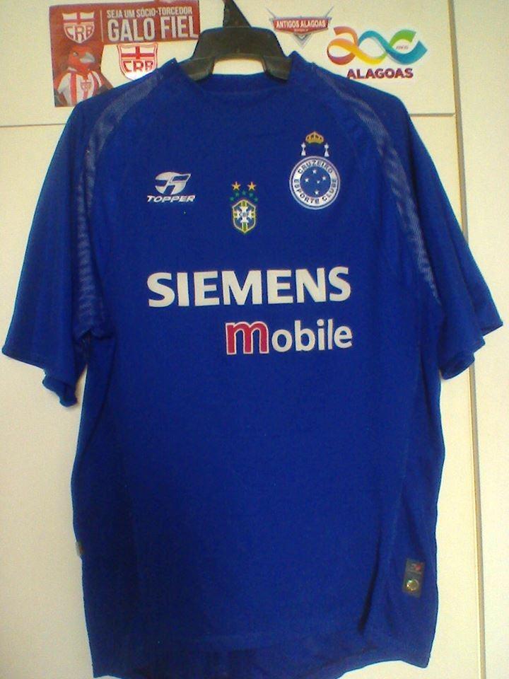 4c7db65aff Camisa Cruzeiro mg Topper 2004 De Jogo. - R  199