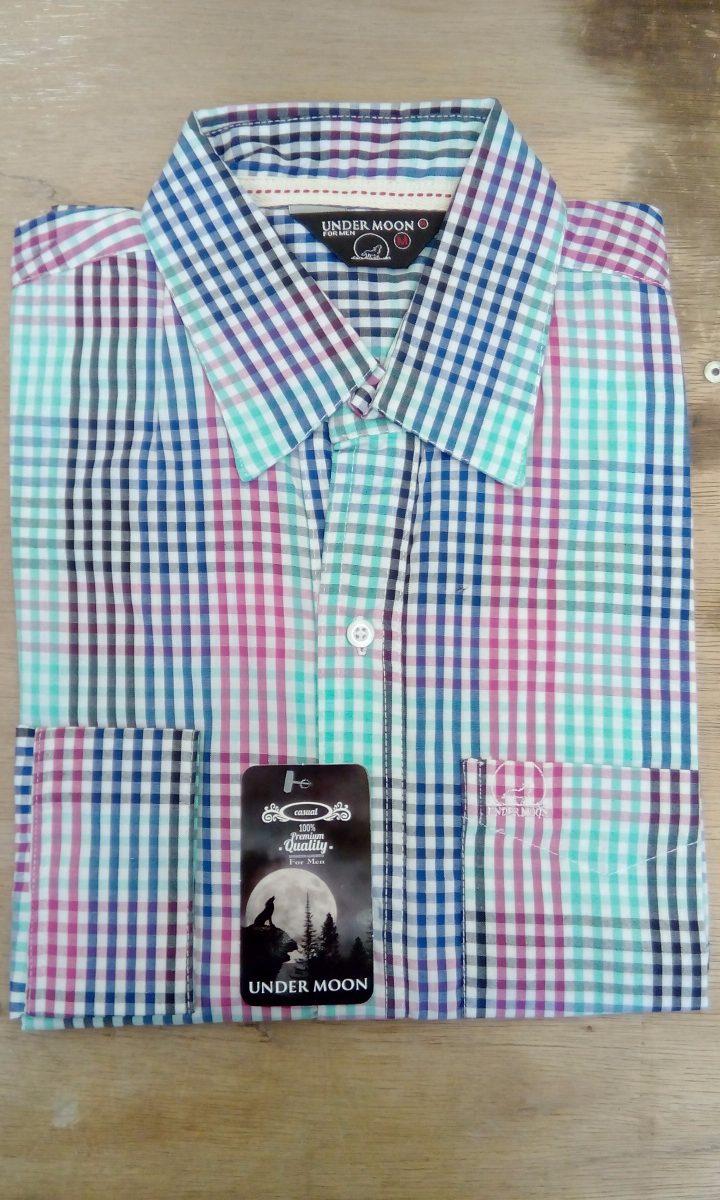 9f864cdb5acd3 Camisa Cuadrada Manga Larga