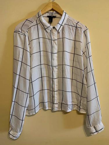 camisa cuadriculada h&m