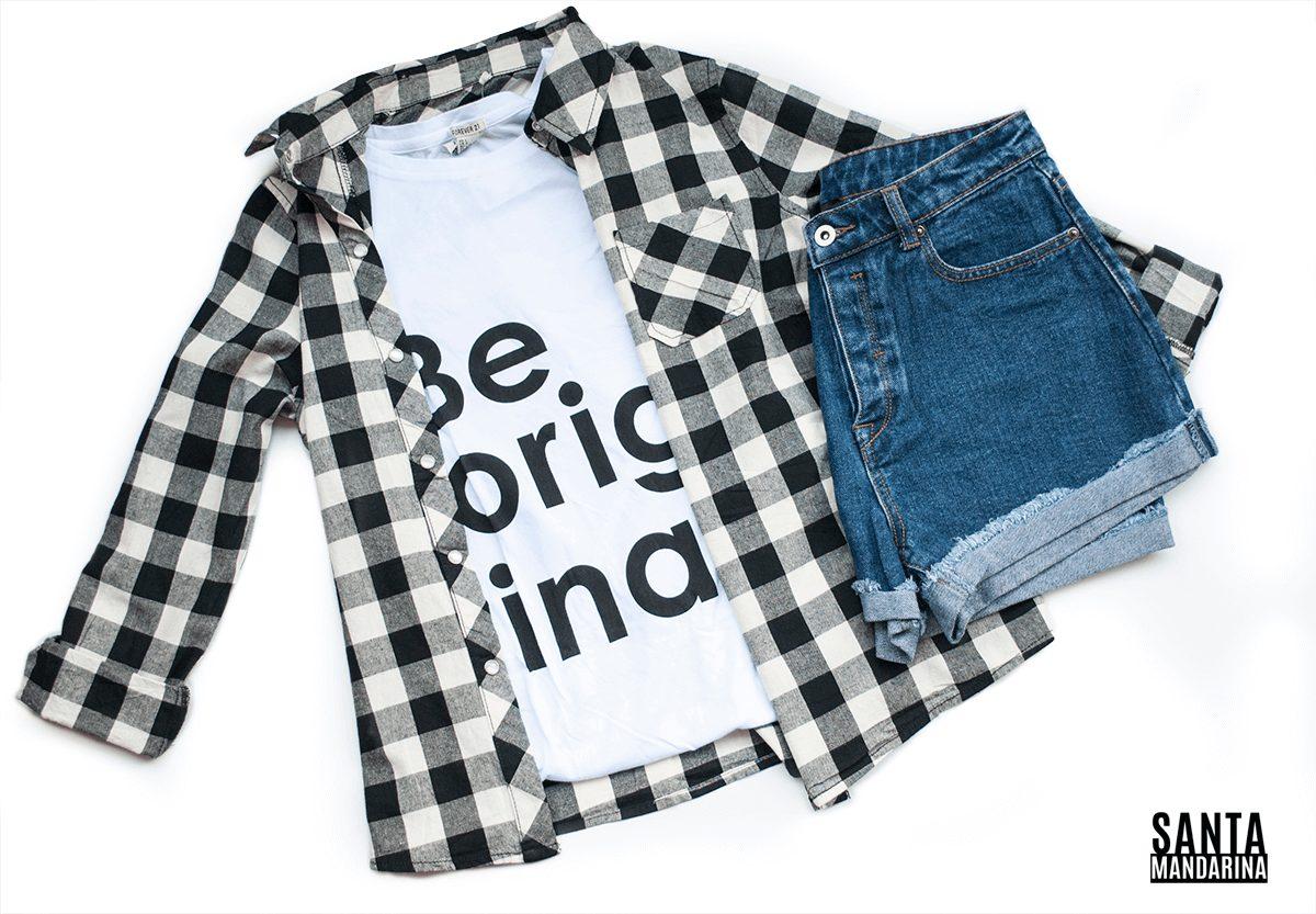 Y Blanca Negra En 399 00 Libre Mercado Camisa Cuadrillé wtBqEE
