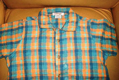 camisa cuadrille collage talle 6 como nueva liquido verano