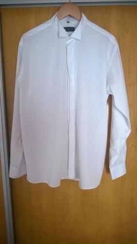 camisa cuello de paloma - plastrón - boda - eventos