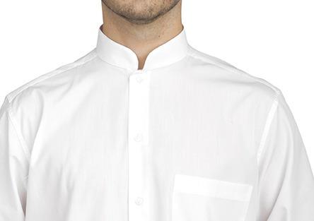 camisa cuello mao de hombre mozo camarero gastronomia m l xl