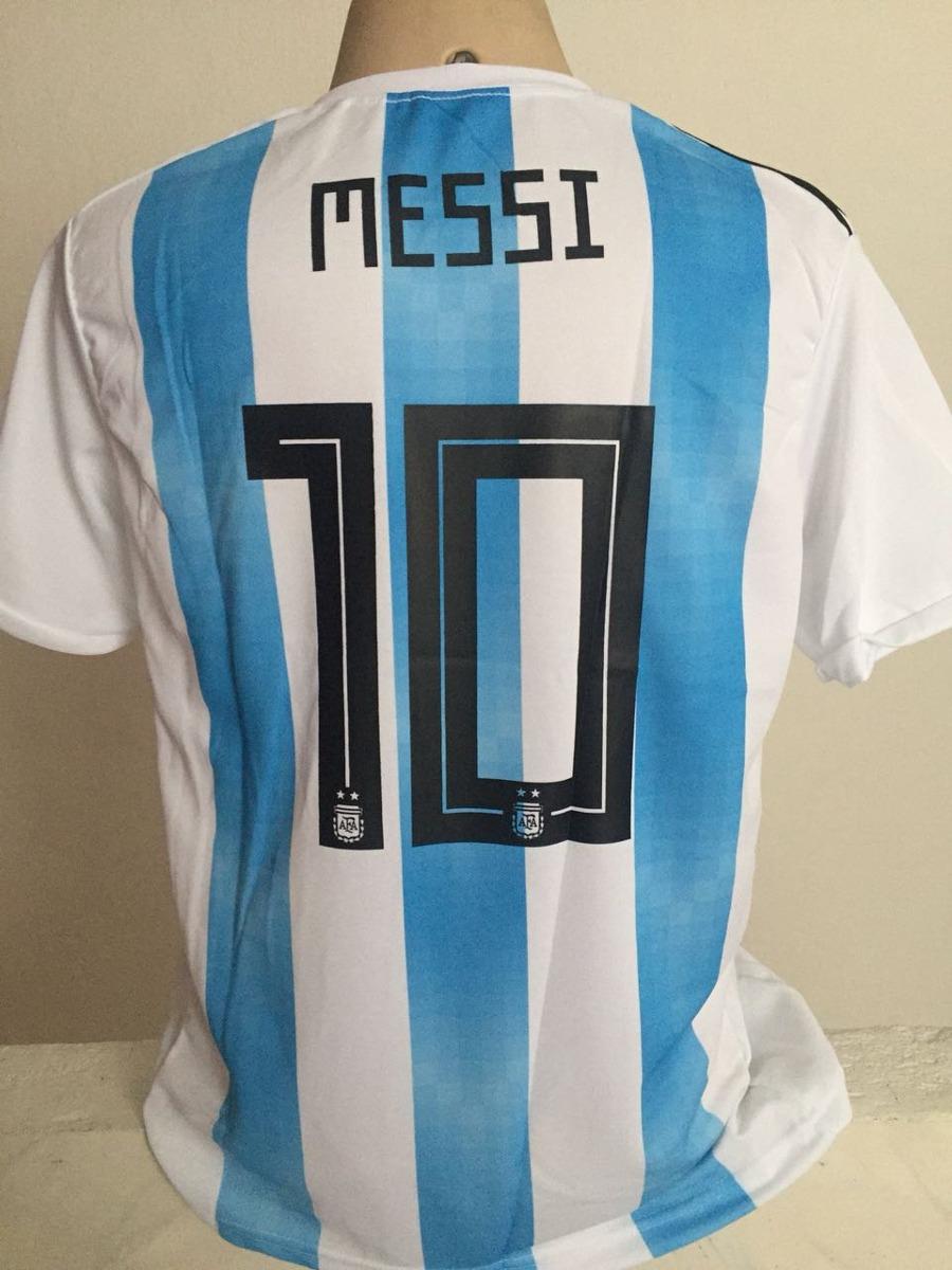 camisa da argentina 2018 10 messi preço imperdível. Carregando zoom. 179b26a614505